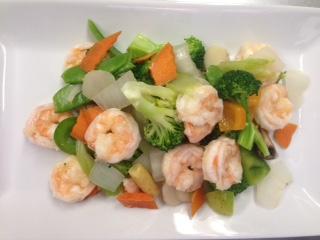 Steamed shrimp &vegetables(from the Health Minded)